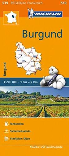 Burgund Frankreich Karte (Michelin Burgund: Straßen- und Tourismuskarte 1:200.000 (MICHELIN Regionalkarten))