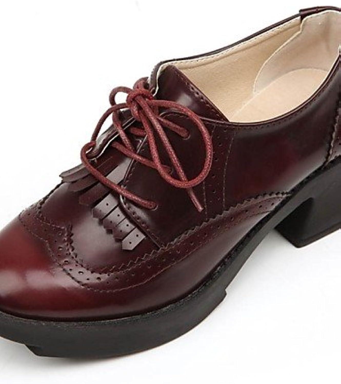 ZQ hug Zapatos de mujer - Tacón Bajo - Comfort - Planos - Exterior / Oficina y Trabajo / Vestido / Casual - Cuero...