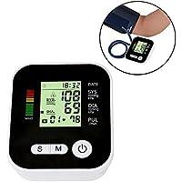 niceeshop (TM) portátil pantalla LCD salida automática brazo monitor de presión arterial – Tensiómetro con función.