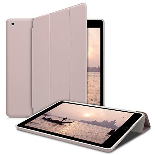 kwmobile Apple iPad 9.7 (2017/2018) Hülle - Tablet Cover Case Schutzhülle für Apple iPad 9.7 (2017/2018) - Beige mit Ständer