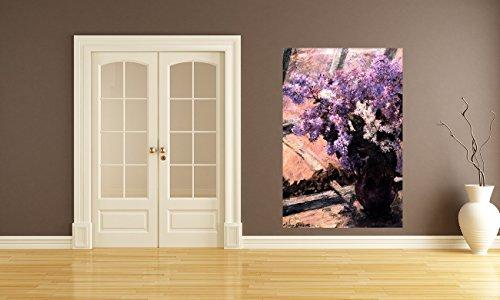 Vlies Fototapete Mary Cassatt - Alte Meister - Flieder in einem Fenster - 60x90 cm - inklusive Kleister - Tapetenkleister – Bild auf Tapete – Bildtapete – Foto auf Tapeten – Wand – Wandtapete – Vliestapete – Wanddeko - Design (Boston Home-theater)