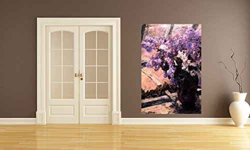 Vlies Fototapete Mary Cassatt - Alte Meister - Flieder in einem Fenster - 60x90 cm - inklusive Kleister - Tapetenkleister – Bild auf Tapete – Bildtapete – Foto auf Tapeten - Boston Home-theater