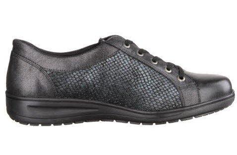 Solidus  Kate, Chaussures de ville à lacets pour femme Schwarz/Smaragd
