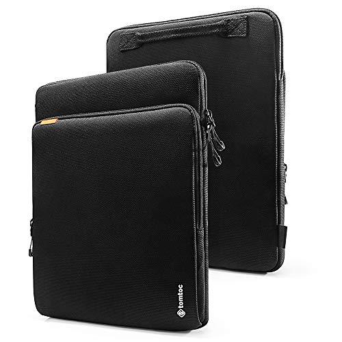 tomtoc Laptop Hülle für 15 Zoll MacBook Pro mit USB-C A1707 A1990, Aktentasche Tragetasche mit Griff und Zubehörtasche für MacBook, Cordura Fiber -