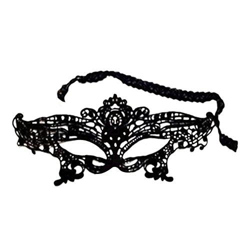 fablcrew Spitze Augenmaske Sexy Frauen Masquerade Karneval Party Fancy Kleid machen Gesicht Maske schwarz