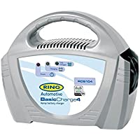 Ring RCB104, 4A Battery Charger, 12V Lead Acid, Vehicles up to 1.2L Including Small Cars, Golf Trollies, Lawnmowers and Boats preiswert