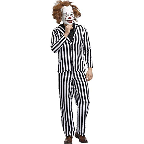 Mumie Kostüm Tutu - CANDLLY Halloween Cosplay Herren Kostüm Erwachsene Anzug Das Halloween Cosplay Kostüm Dress Up Outfit Herren Gestreift Set