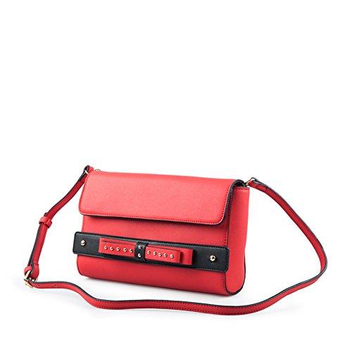 Automne bow sac à main/Pochette rouge à capuche/Sac à bandoulière-A A