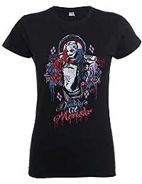 Lil T-shirt des filles des femmes monstre Harley Quinn Suicide Squad Papa noir