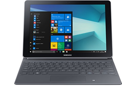 Samsung Galaxy Book W627 26,92 cm (10,6 Zoll) Convertible Tablet PC (Intel Core m3 7Y30, 4GB RAM, 64GB HDD, Windows 10 Home) Silber
