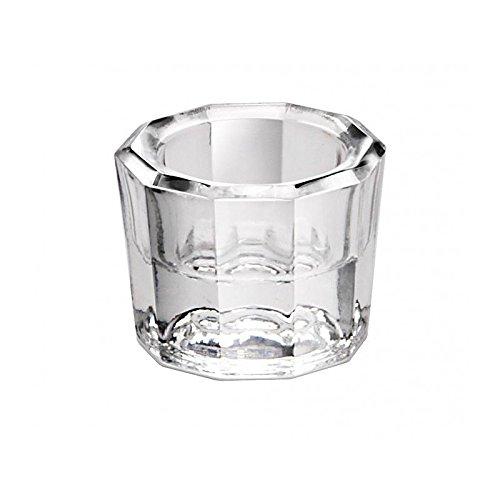 Dappenglas, zum anrühren mischen von Wimpernfarbe, Acrylpulver, Liquid, Dappen Dish Glas, Weiß
