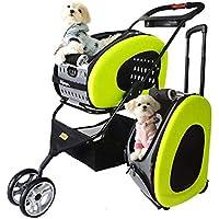 WLDOCA Cochecito Plegable para Mascotas EVA 5 En 1 para Perros Y Gatos Fácil para Viajes Verdes