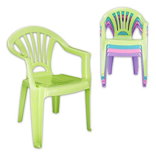 WOP ART 4er Set Kinderstuhl aus Kunststoff in 4 Farben Funky Colours