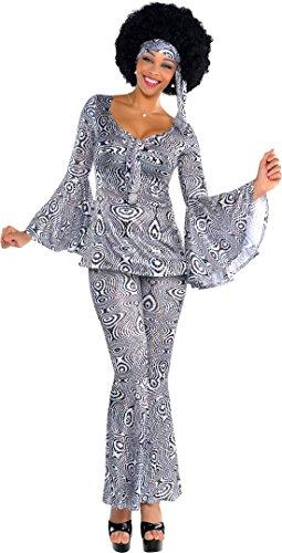 erdbeerloft - Unisex - Erwachsene Karnevalskomplettkostüm Dancing Queen, Mehrfarbig, Größe L (Disco Dancing Queen Kostüm)