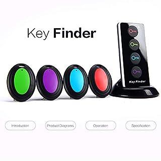 Schlüsselfinder, 4 in 1 Wireless Key Tracker Fernbedienung RF Artikel Locator 80dB Lauter Alarm Erinnerung Basis Unterstützung für Schlüssel, Hunde, Katzen, Brieftasche, Handy