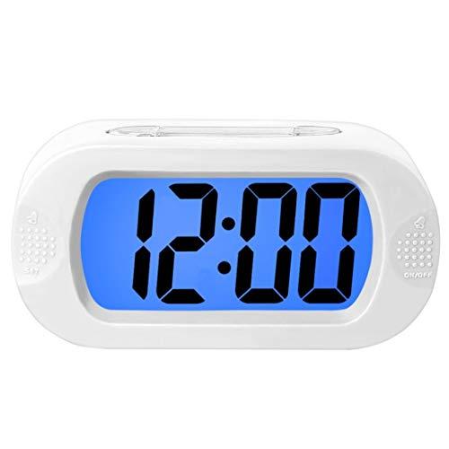NZYMD Silicone Creativo Orologio Sveglia Orologio Sveglia Forniture per Hotel Orologio Sveglia Vibrazione infrangibile Orologio in Silicone Orologio elettronico Sveglia,White