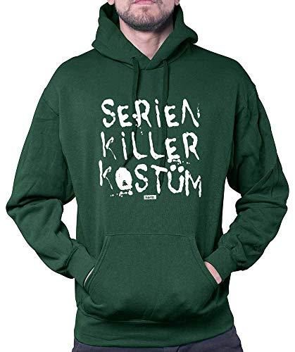 Baby Killer Kostüm - HARIZ Herren Hoodie Serien Killer Kostüm Karneval Kostüm Plus Geschenkkarte Dunkel Grün M