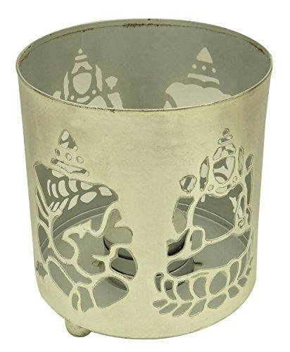 Dekorative Silber Ton Metall Votive Kerze Halter Tee Light Stand Hochzeit Dusche