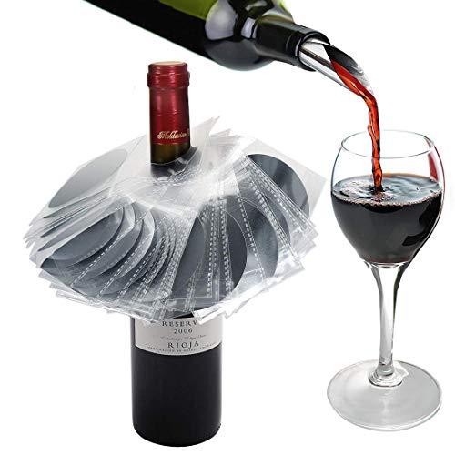 YOBANSA Set von 24 Wein Drop Stopping Ausgießer, Wein Ausgießer Discs, Wein Disk Ausgießer Set...