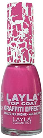 Layla Cosmetics Milano Vernis à Ongles Top Coat Graffiti Crack