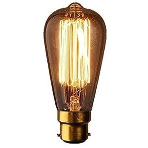 Filament Light Bulb B22 Edison Vintage Chandelier Ceiling Room Dinner Hall Club Pub Restaurant Modern Vintage by CrazyGadget®