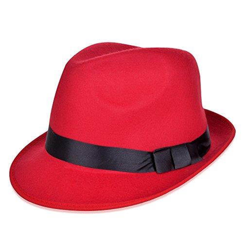 bd0fe6dae5c12 Vbiger Unisex Sombreros de Ala Cortos Sombrero de Fieltro de Lana ...