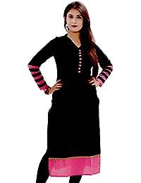 The Style Story Black Cotton Kurti