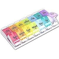 TaiYaun wöchentliche Pille Veranstalter, 2 mal am Tag (AM & PM) Pill Box, große Fächer Travel Pill Case, 7-Tage-Pille-Planer... preisvergleich bei billige-tabletten.eu