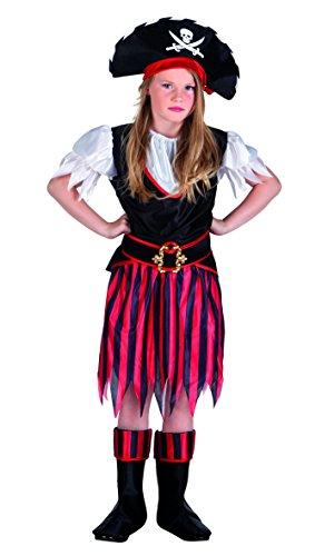 Boland 82155 - Kinderkostüm Piratin Annie, schwarz (Annie Kostüm Kinder)
