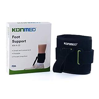 KONMED Adjustable Drop Foot Support AFO AFOs Brace Strap Elevator Poliomyelitis Hemiplegia Stroke Universal Size