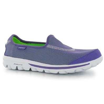 Skechers Womens Go Walk Rec Ladies Trainers Purple 5