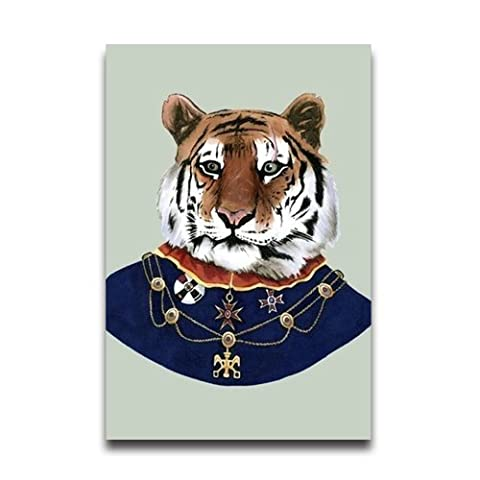 Customized Tiger Funny Design Poster Wall Paper Home Room Wall Decor