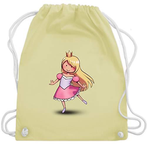 Karneval & Fasching Kinder - Tanzende Prinzessin - Unisize - Pastell Gelb - WM110 - Turnbeutel & Gym ()