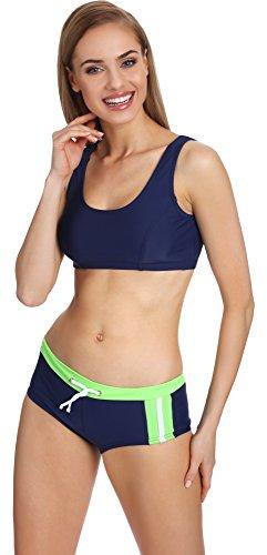 Lorin Bikini Coordinati per Donna EU 40 (IT 46)01 Blu Scuro/Verde Chiaro