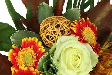 Blumenstrauß goldener Herbst von Blumenversand Rosenbote - Du und dein Garten