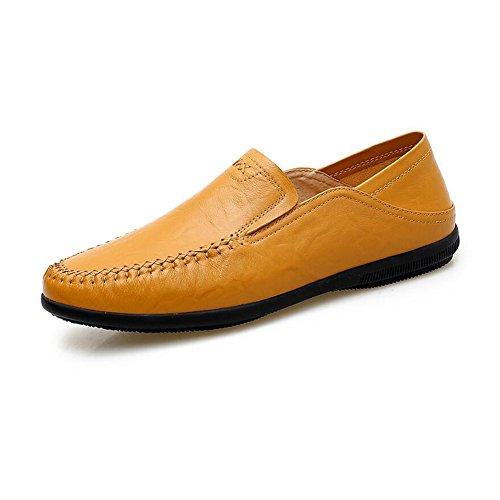 Herren Sandalen CJC Schuhe Männer Casual Fashion Leder Mokassins Fischer Wandern Fahrer Im Freien Atmungsaktiv (Farbe : T3, größe : EU41/UK7.5-8)