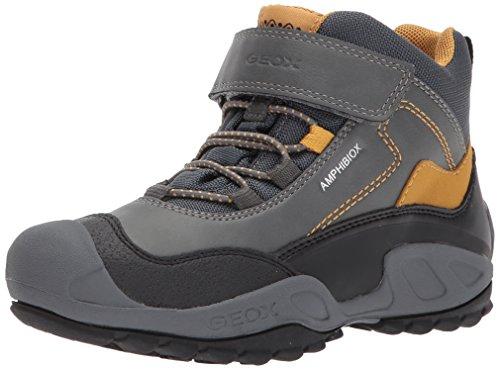 Geox Jungen J New Savage Boy B ABX A Hohe Sneaker, Grau (Grey/Dk Yellow), 29 EU (Geox Turnschuhe Kinder)
