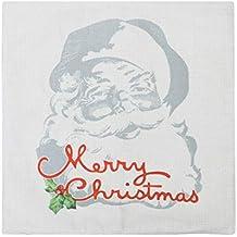 Vosarea Funda de Almohada Decorativa de Funda de cojín de Lino Decorativo para Almohada de Navidad