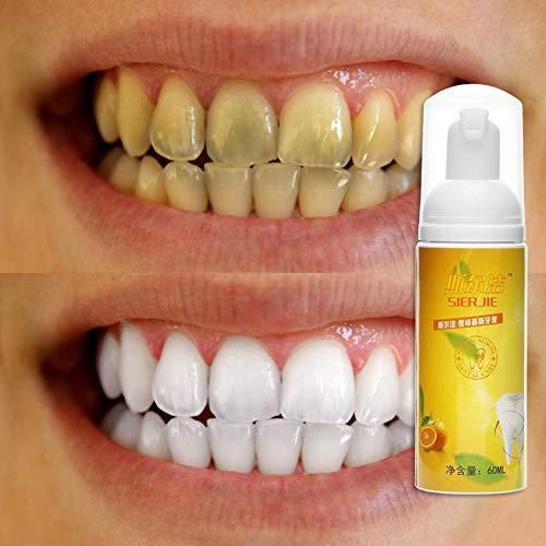 NAttnJf Mousse naranja Pasta dientes Placa Eliminar