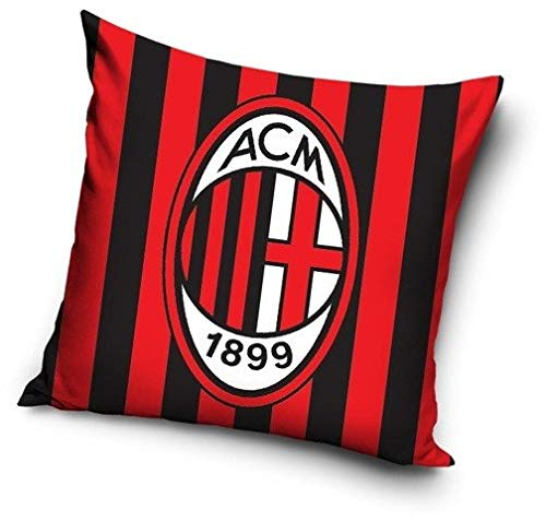 AC Milan Kissen Schwarz/Rot in 40x40 cm