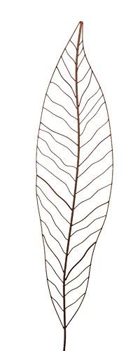 Gartenstecker Edelrost - Farn groß - Rankhilfe Gartendeko Höhe 147 cm