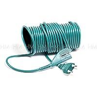 1 x Cable eléctrico de 10 metros para aspiradora Vorwerk Folletto VK 135 y 136 Adaptable