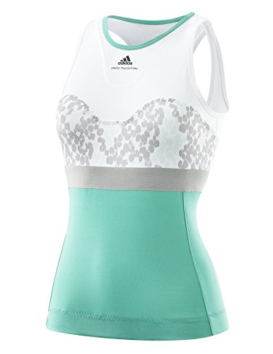 adidas Damen Stella McCartney Barricade Tennis Tank, Damen, grün gr. M -