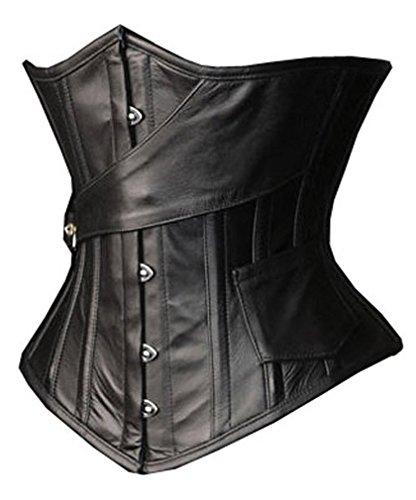 camellias-black-leather-steel-boned-waist-training-corset-underbust-waist-shaper-uk-sz1866-black-4xl