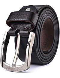 Alice   Elmer Cinturón De Cuero Genuino Casual Cinturones De Grano Completo para  Hombres d5410069b7de