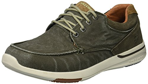 Skechers Men's 65494 Boat Shoes, Green (Olive), 10 UK 45 EU
