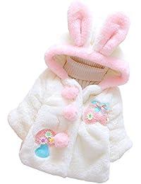 AIKSSOO Chaquetas para Bebés Niñas Cartón Capa de Invierno Abrigo Princesa  Ropa de Encaje e4bbb7c5d818c