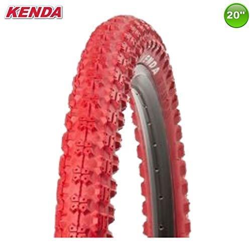 1 x Kenda K-51 Fahrrad BMX - Reifen Mantel Decke Rot 20 x 2.25-58-406 - Rot-bmx-fahrrad-reifen