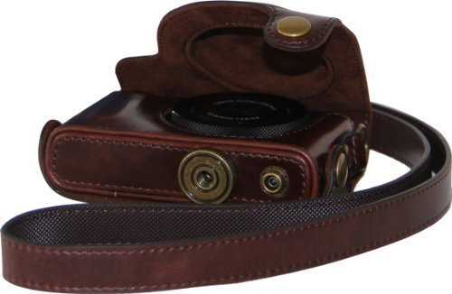 MegaGear-Ever Ready-Custodia in pelle per fotocamera Canon Powershot S110, marrone scuro