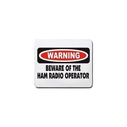 WARNING BEWARE OF THE HAM RADIO OPERATOR Mousepad [Office Product]